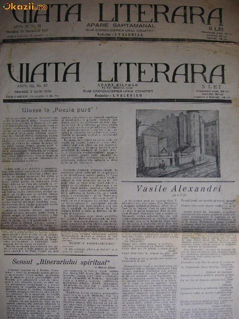 Viata literara ( 2 numere ) - 1927 si 1928