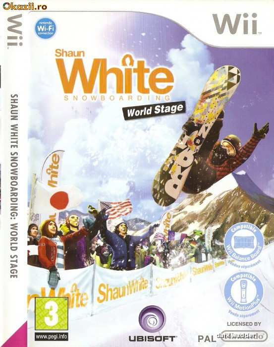 JOC WII SHAUN WHITE SNOWBOARDING WORLD STAGE ORIGINAL PAL in STOC REAL