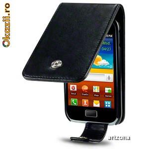 Vand husa flip protectie Samsung Galaxy Ace Plus GT-S7500 bonus folie protectie ecran foto mare