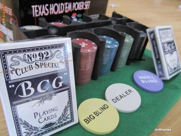 Set poker complet Texas Hold Em 200 jetoane inscriptionate euro pachete carti