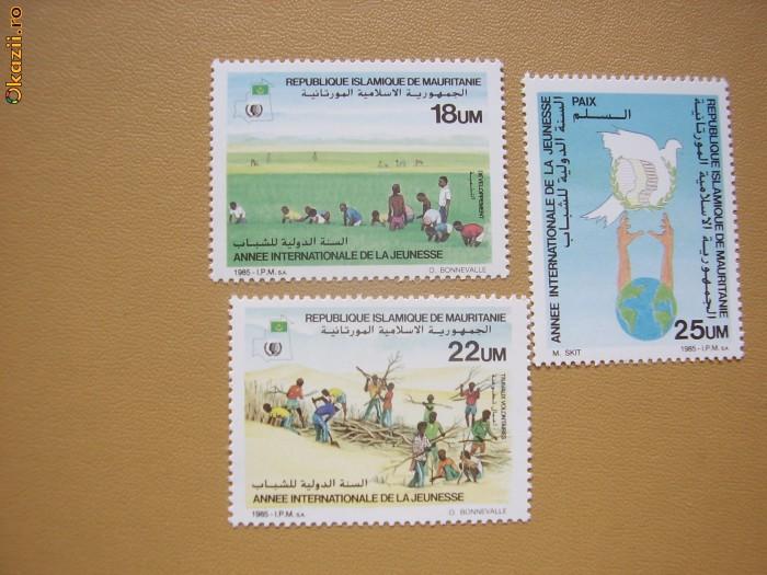Mauritania 1985  Anul int.al tineretului mi 867-869