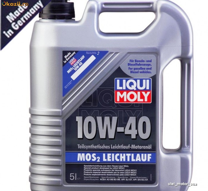 ulei motor liqui moly 10w 40 mos2 leichtlauf vw. Black Bedroom Furniture Sets. Home Design Ideas