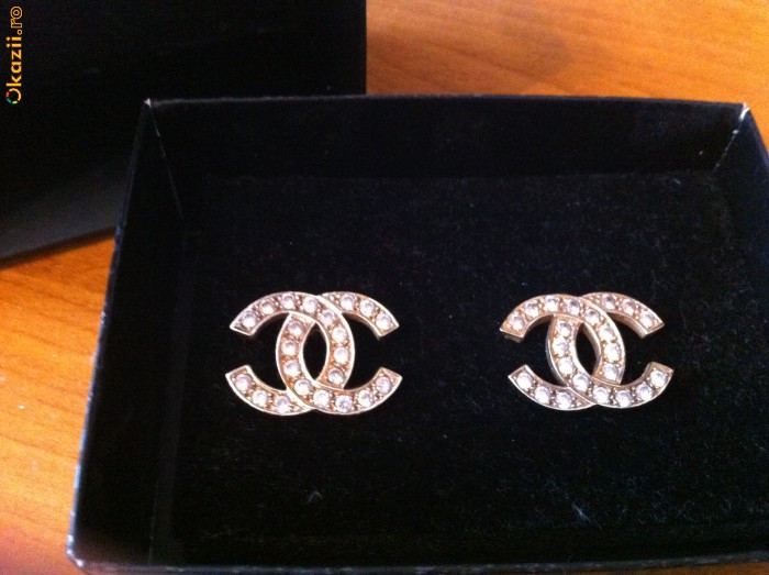 asa ieftin vânzare online proaspăt confortabil Cercei de aur Channel   arhiva Okazii.ro