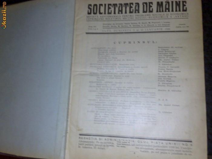 Revista : Societatea de maine - anul 3 - 1926 foto mare