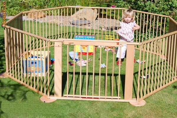 """370 Ron - Tarc din lemn MaXXimo KrabbleHit Germania pentru copii """"Gran Paradiso"""". aprox. 7,2 m liniari  Produs 100% Nou, in cutie"""