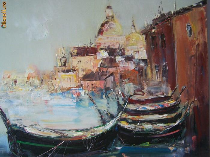 Asfintit Venetian- Ulei pe pinza - DANUTI AVRAM foto mare