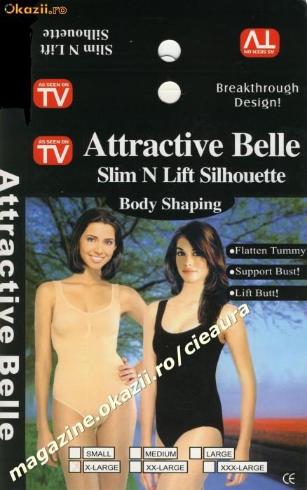 "BODY SHAPING "" ATTRACTIVE BELLE"" SLIM N LIFT SILHOUETTE AS SEEN ON TV CORSET DAMA SLABIT/ SLABIRE / INGUSTARE / SUBTIERE FORME TALIE BURTA ARIPIOARE"