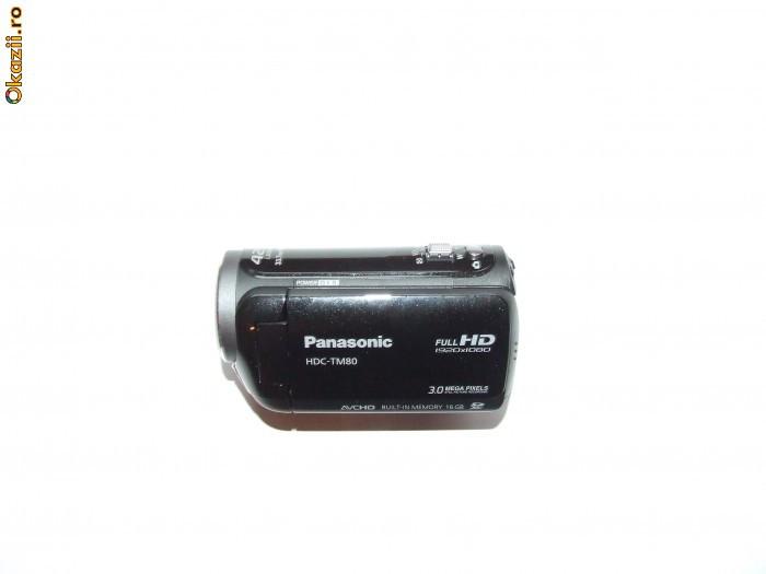 Camera video Panasonic HDC-TM80 + card memorie Transcend 32 GB