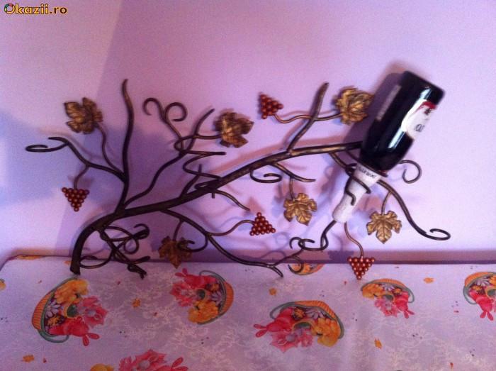 suport sticle de vin pentru perete foto mare
