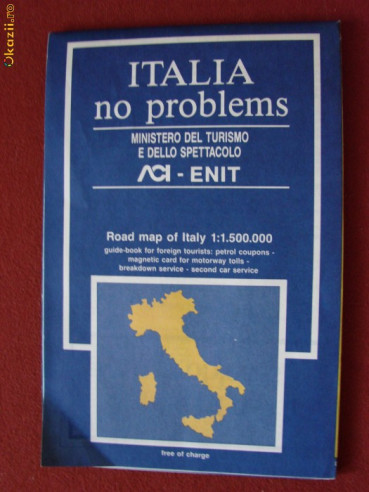 Harta Rutiera Color Italia Okazii Ro