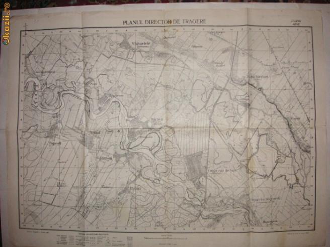 Harta Jilava Planul Director De Tragere Serviciu Geografic Al