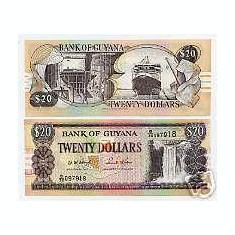 Bnk bn guyana 20 $, necirculata *
