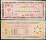 Bnk bn bolivia 5000000 pesos bolivianos 1985 xf , pick 193