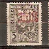 Timbre ROMANIA 1918 Timbru de ajutor cu supratipar
