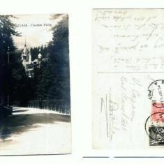 CP107-66 -Sinaia -Castelu Peles -circulata 1927? - Carte Postala Muntenia dupa 1918