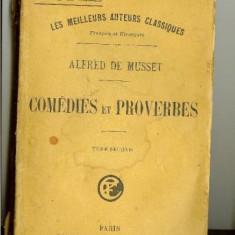 Musset, Alfred de - Comedies et proverbes, 2 vol, ~1920 - Carte Proverbe si maxime