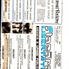REVISTA FLACARA LIBERTATII Anul-I -NR.1  1989