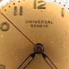 UNIVERSAL GENEVE MILITAR cal 263 - Ceas barbatesc, Elegant, Mecanic-Manual, Inox, Piele, Analog