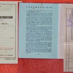 Carnet de contributiuni, 1933 - 1938 - Hartie cu Antet