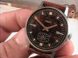 De colectie ! Ceas de mana POBEDA cu baza de  mecanism ZENITH anii' 70, Mecanic-Manual