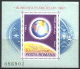 ROMANIA 81,COSMOS,  ALINIEREA PLANETELOR, colita nestampilata PN5
