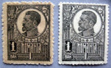 Cumpara ieftin A874.1 1920 FERDINAND 1 ban negru h. Alba + razboi cu scame, Regi, Nestampilat