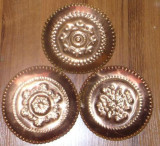 3 farfurii din alama