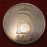 250 franci belgia argint masiv . de colectie, Europa, An: 1976