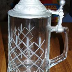 Halba din sticla cu capac din zinc 2