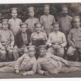GRUP DE SOLDATI (primul razboi) - Fotografie veche