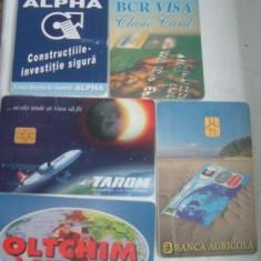 SET 5 CARTELE PUBLICITARE - Cartela telefonica romaneasca