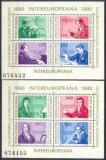 Romania 1980 - COLABORAREA COMPOZITORI ENESCU, BEETHOVEN, 2 blocuri 4 MNH PN1, Muzica, Nestampilat