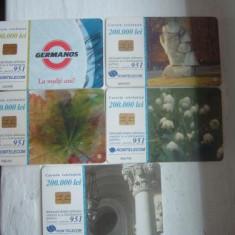 SET 5 CARTELE TIRAJE MICI - Cartela telefonica romaneasca