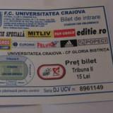 + Bilet trib.II la meci  U Craiova - G.Bistrita din 07.03.2009 +