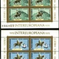 Romania 1978 - EUROPA STATUI ECVESTRE, blocuri de 4 nestampilate AF2