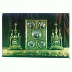 Carte Postala108-10 -Manastirea Secu -Chivote si Evanghelie -necirculata