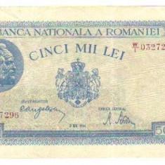 Bnk bn romania 5000 lei 2 mai 1944 vf - Bancnota romaneasca