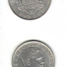 Bnk mnd romania 200 lei 1942 argint - Moneda Romania