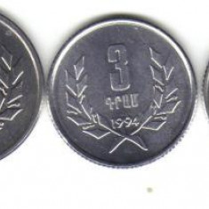 Bnk mnd armenia 1994 set 3 monede unc