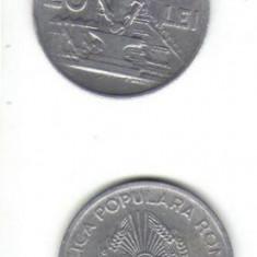 Bnk mnd romania 20 lei 1951 xf - Moneda Romania