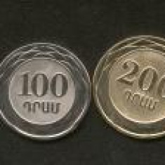 Bnk mnd armenia set 6 monede 2003 unc, bimetal inclus