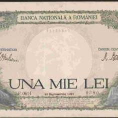 bnk bn romania 1000 lei 10 septembrie 1941 , aunc
