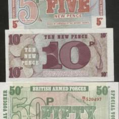 bnk bn Anglia set 3 bancnote British Armed Force unc