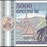 Bnk bn romania 5000 lei 1992 unc - Bancnota romaneasca