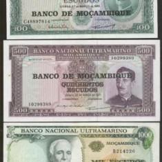 Bnk bn lot 3 bancnote unc mozambic