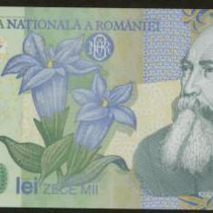 Bnk bn romania 10000 lei 2000 unc, polimerica - Bancnota romaneasca