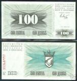 Bnk bn bosnia 100 dinari 1992 unc