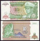 bnk bn Zair 10 nouveaux makuta 1993 , unc ,pick 55