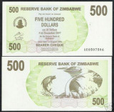 bnk bn zimbabwe 500 $ 2006 unc
