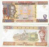 bnk bn Guinea ,republica , 1000 franci unc